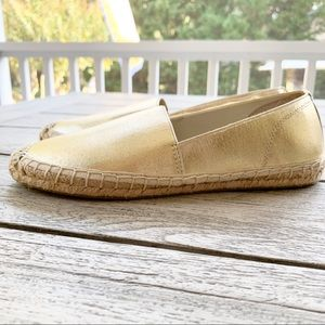 ELLEN TRACY Paris Gold Size 7 Espadrille